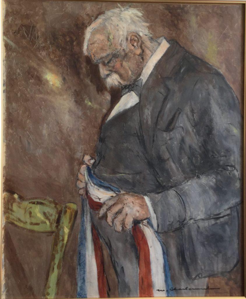 """Marcel Charbonnel """"Après la Cérémonie""""      65x54     huile sur panneau     après la cérémonie"""
