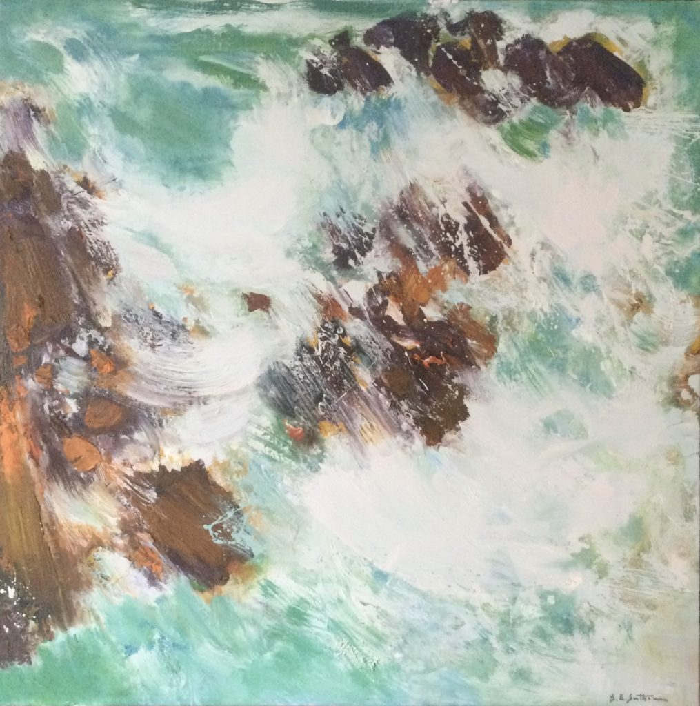 Maurice Elie Sarthou Peinture Mer Verte
